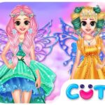 Princess In Colourful Wonderland